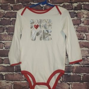New Carter's Santa Loves Me onesie outfit 24 month